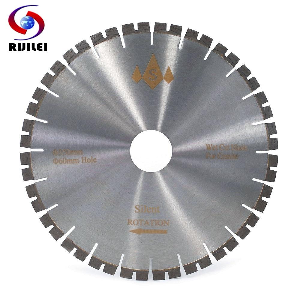 RIJILEI 350MM Silent Diamond Granite Saw Blade Profession Cutter Blade For Granite Stone Cutting Circular Cutting Tools SH350G