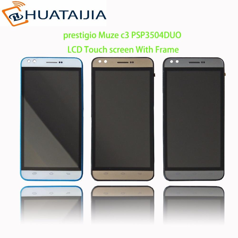 "5 ""LCD תצוגה + מסך מגע עבור prestigio Muze c3 PSP3504 PSP3504DUO digitizer פנל חיישן עדשת זכוכית עצרת משלוח חינם"