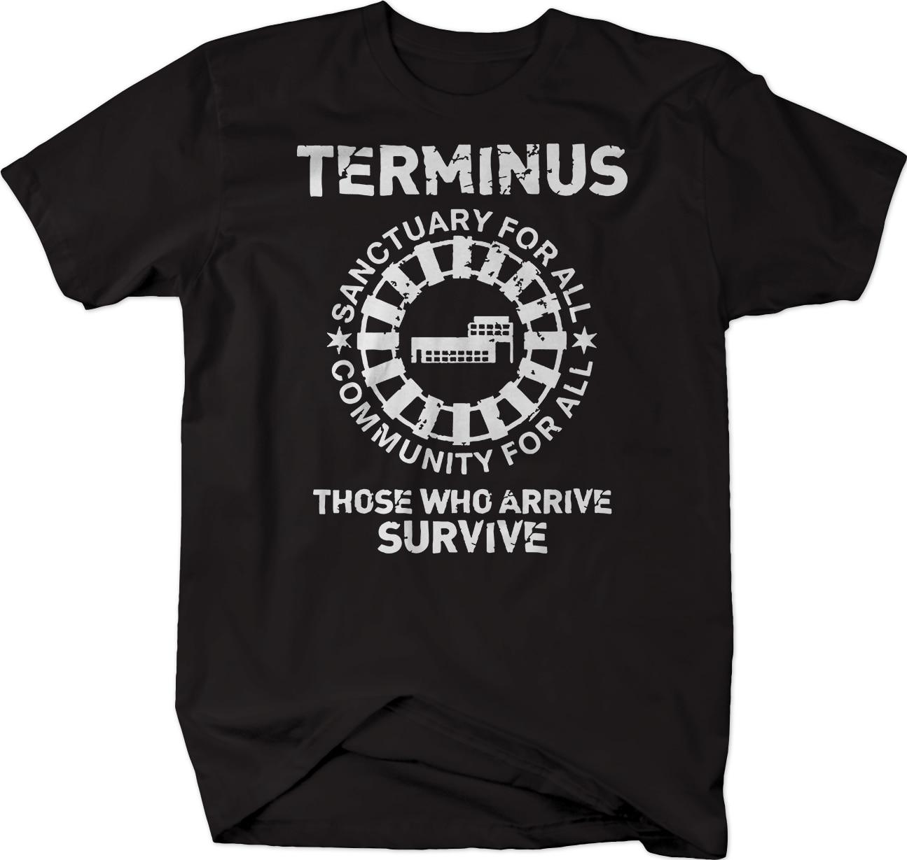 Camiseta de supervivencia de zombi muerto de Terminus Sanctuary