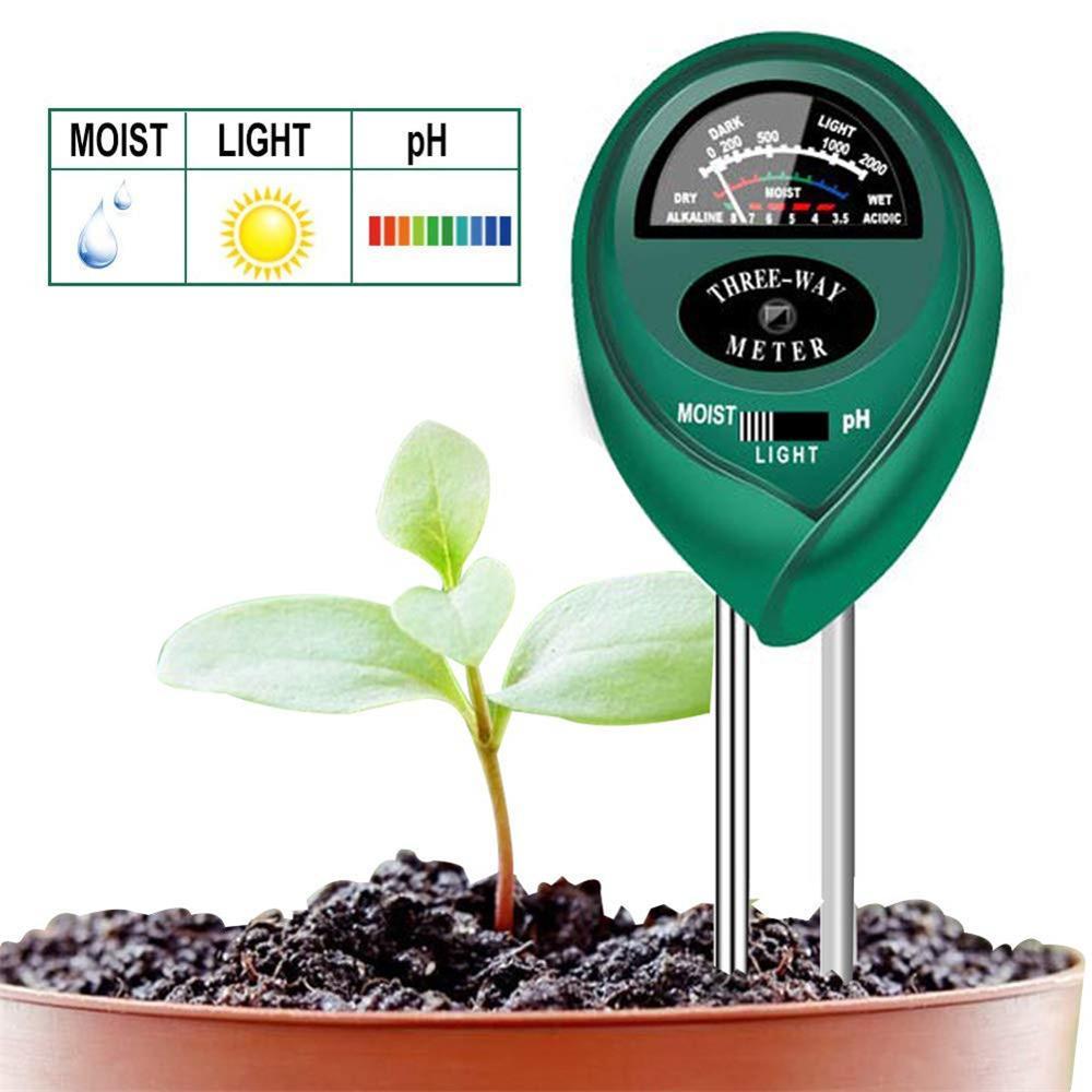 3 в 1 Садовый завод цветок почвы гигрометр тестер воды PH Измеритель влажности инструменты для тестирования