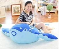 stuffed plush toy huge 120cm carton blue whale doll soft hugging pillow christmas gift b0596