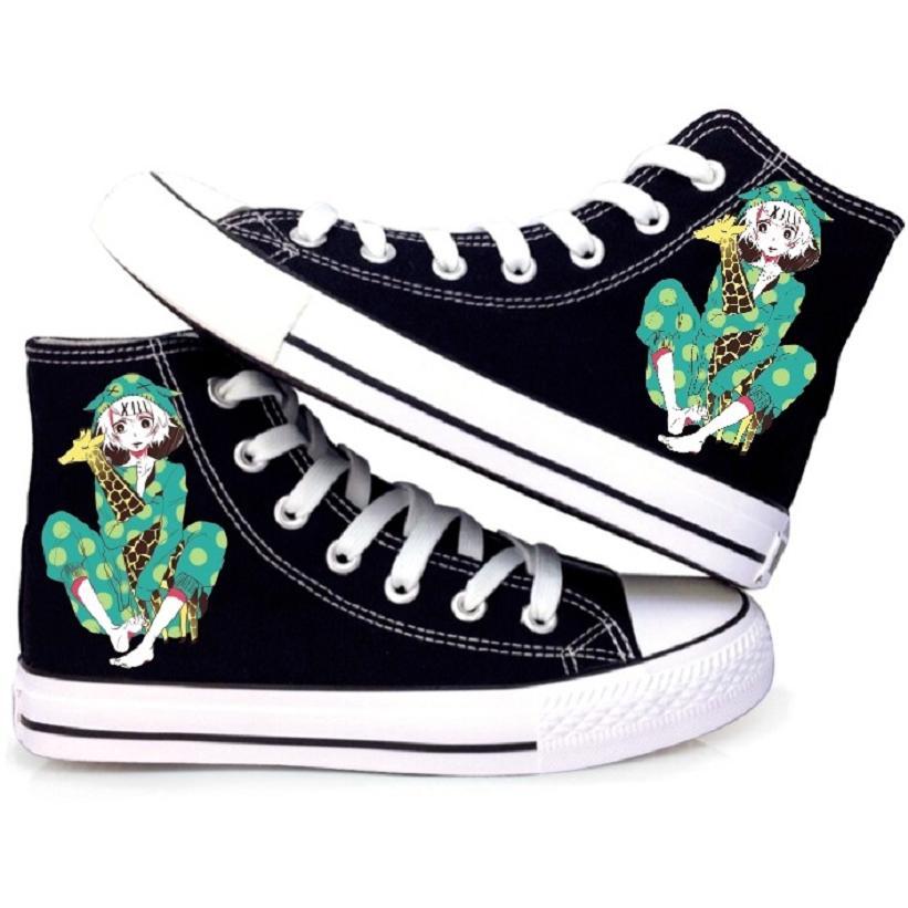 High-Q Unisex Anime Cos Tokyo Ghoul JUZO SUZUYA / REI boy CCG Canvas Shoes plimsolls rope soled shoes