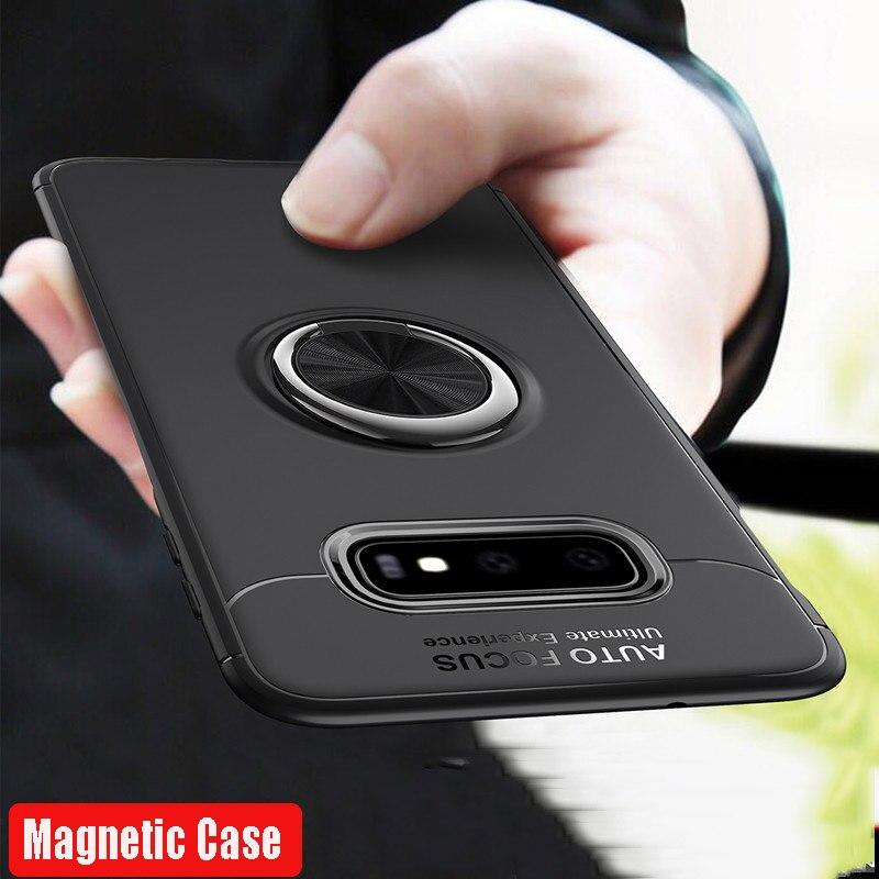 Luxury Shockproof Magnetic Ring Bumper Case For Samsung Galaxy S10 S9 S8 Plus S10e Note 8 9 A30 A50 A70 A7 A8 2018 M20 Soft Case