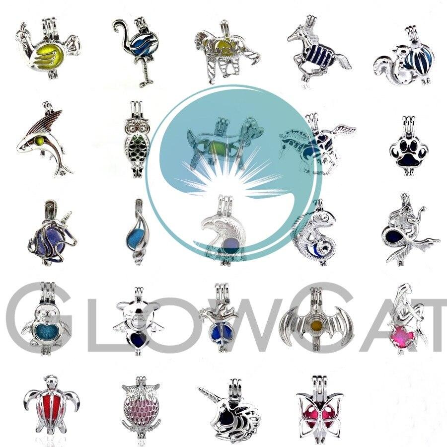 1 медальон, подвеска для Устрица акойя, жемчужный детский подарок на вечеринку, единорога, лошадка, Русалочка, насекомые, свинья, черепаха, со...