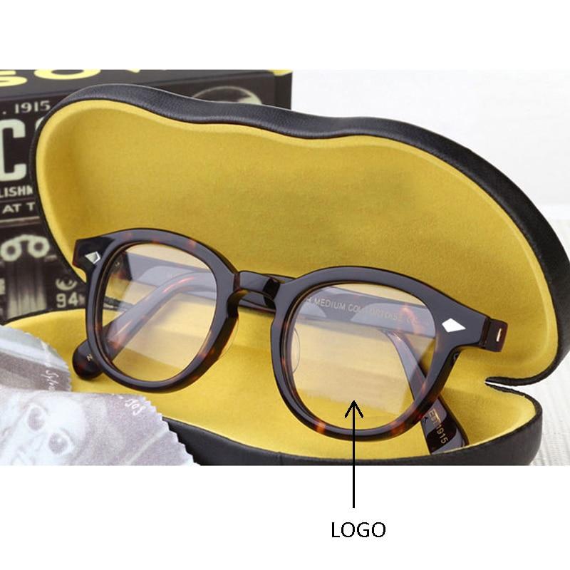 جوني ديب نظارات الرجال النساء الكمبيوتر نظارات مستديرة شفافة LEMTOSH النظارات العلامة التجارية تصميم خلات نمط خمر صندوق الإطار