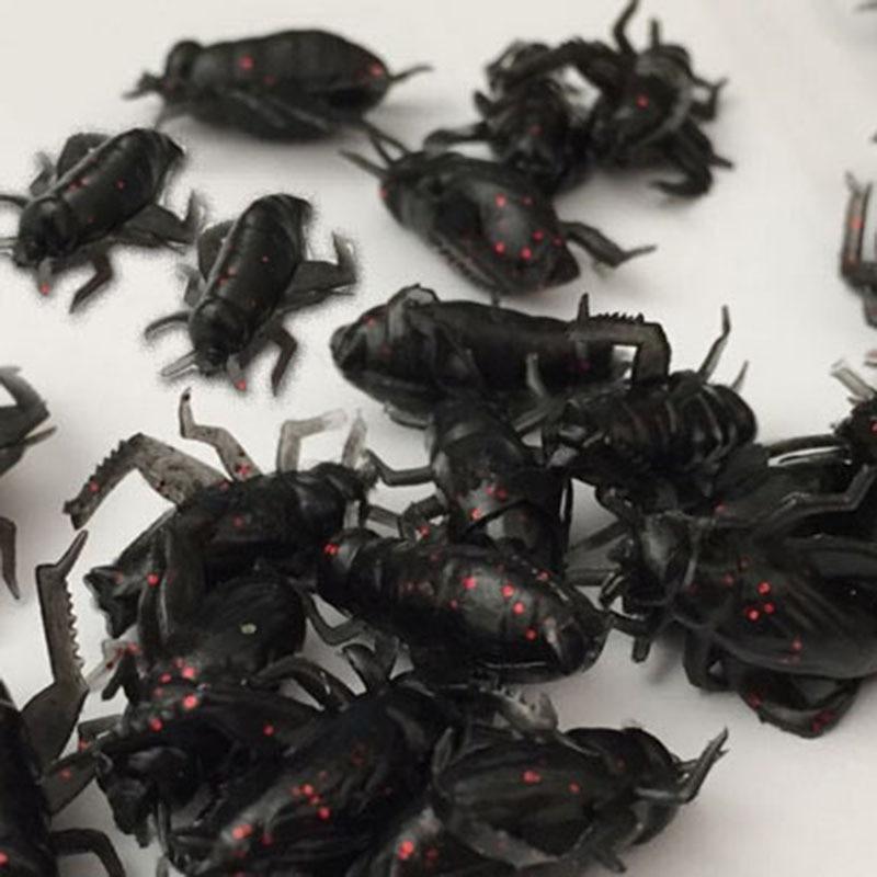 20 unids/lote 0,6g 2cm Señuelos de Pesca blando insecto grillo cebo realista suave señuelo insecto Leurre Peche