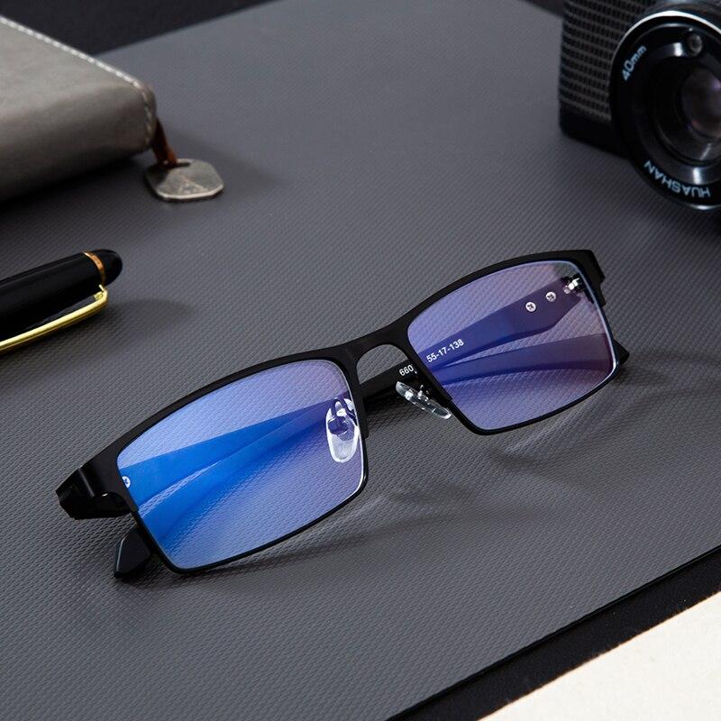 Gafas de titanio para ordenador Anti Blue Light, filtro de bloqueo, reduce la presión ocular Digital, gafas de juego regulares claras, gafas TR90