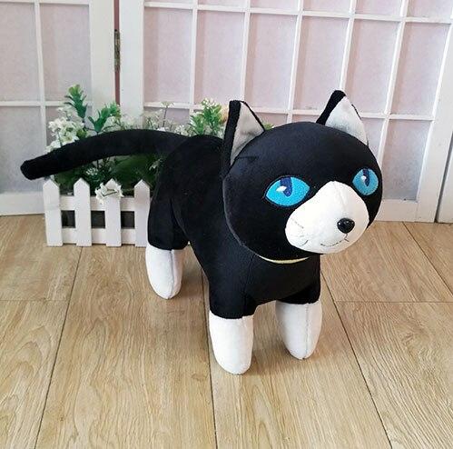 Persona 5 la animación juguete de peluche gato negro Morgana Mona figura del anime Cosplay felpa muñeca 35cm alta calidad almohada