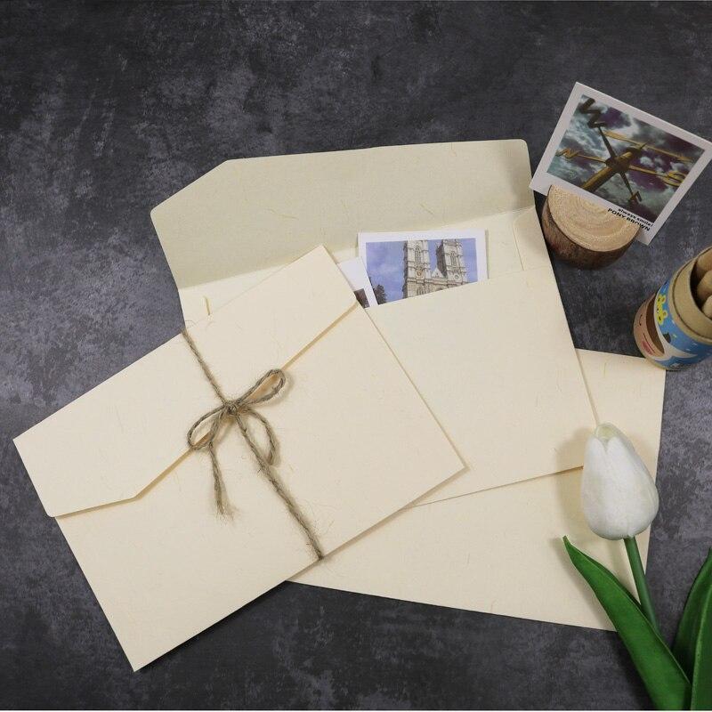 5 pcs Envelope Envelopes de Presente para o Casamento Em Branco Cor Bege Carta Convite Cartões de Saudação Cartão Postal Envelope De Papel Sacos De Papel