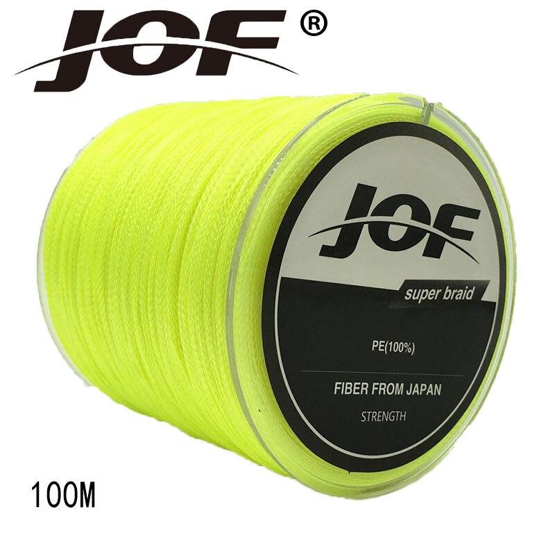 JOF 4 Strands 100M Super Strong Japan Multifilament PE 4Braided Fishing Line 8 10 12 18 22 28 30 40 50 60 70 100LB