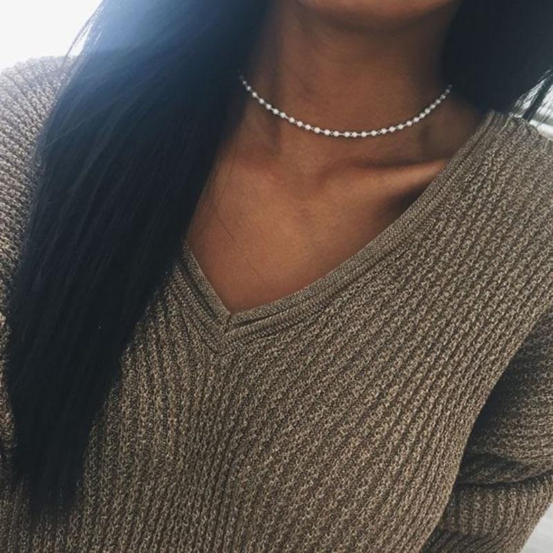 2 uds. Collar de perlas de moda, joyería Natural de perlas de agua dulce, Gargantilla blanca, collar para mujeres #240923