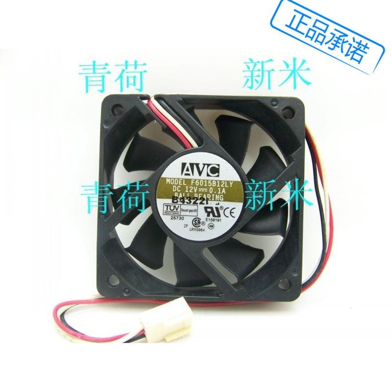 Se AVC 6 CM CPU velocidad de prueba doble rodamiento de bolas silencio placa base 0.1A 12 v F6015B12LY ventilador de refrigeración