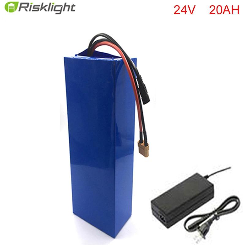 Fiets-Batería de bicicleta de ciclo profundo, 24V, 20Ah, 24V, 300W, batería de...