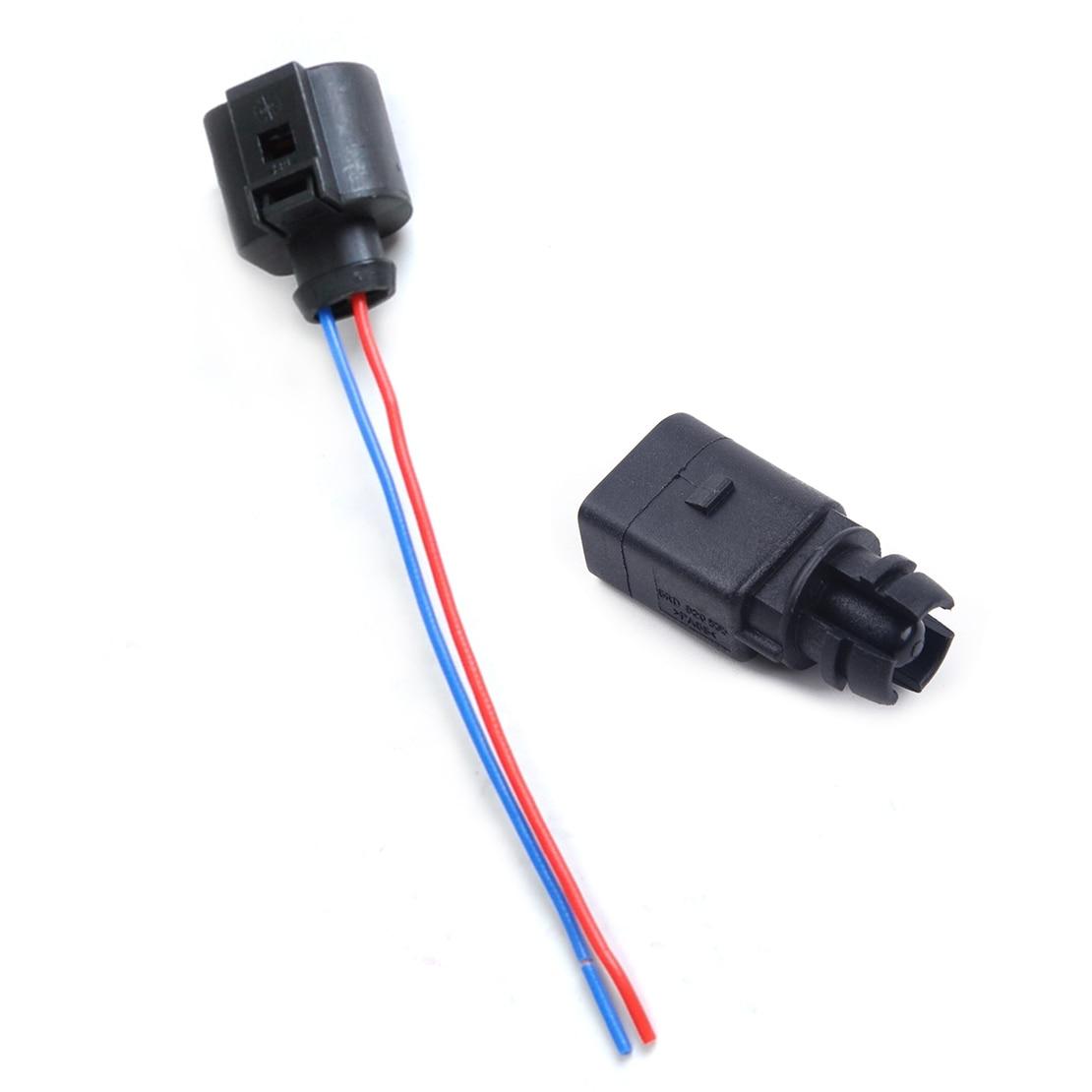 CITALL Neue Umgebungs luft temperatur sensor & Elektrische 2 Pin Stecker Stecker Kabelbaum Fit für Audi VW 6rd820535 1j0973702