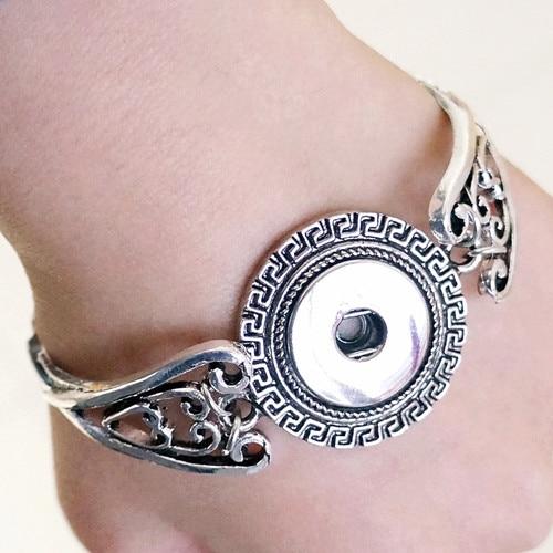Broches brazaletes de joyería 18mm/20mm metal Charms pulsera Vintage jayna jengibre snap joyería fit 18/20mm broches de GS1801020