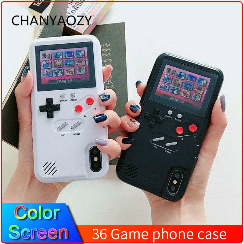 Цветной дисплей 36 Классический чехол для телефона для iPhone 11 Pro X XS Max XR 6S 6 7 8 Plus консоль игровой мальчик Мягкий ТПУ силиконовый чехол