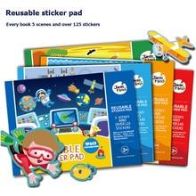Kids Original Sticker Books Reusable Sticker Pad self adhesive flake transparent PVC film cute stickers for bottle laptop phone