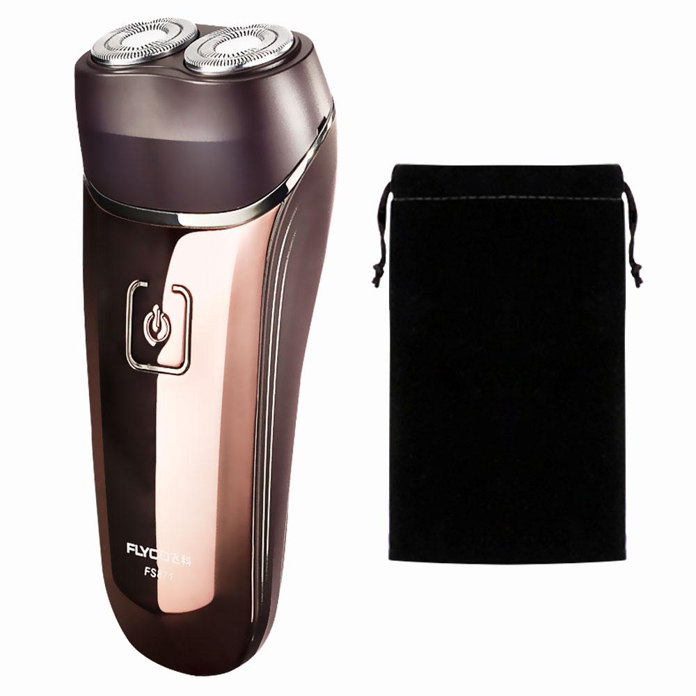 Flyco البسيطة Afeitadoras Electricas دي هومبر الرجال ماكينة حلاقة قابلة للشحن ذكي جميلة يغسل الجسم ماكينة حلاقة FS871-A مع حقيبة