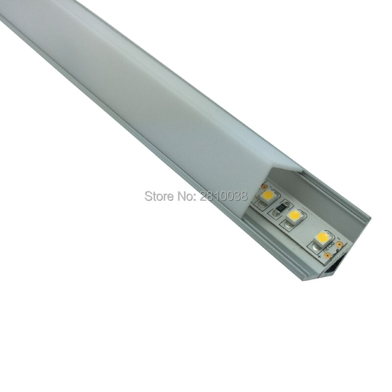 500 X 2M Sets/Lot 16x16mm L shape profile led kitchen light and 90 angle aluminium led housing channels for cabinet lights
