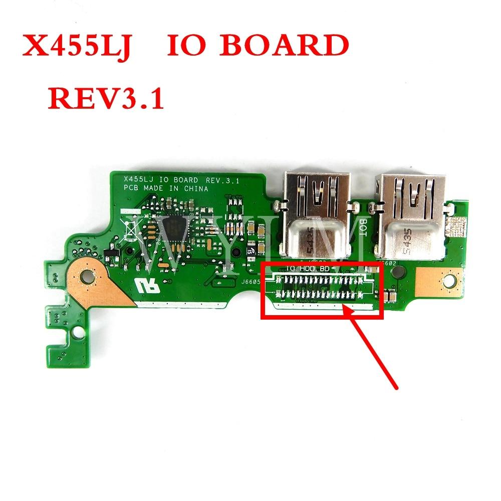 X455LJ IO Junta REV2.1/3,1 para ASUS X455LJ X455LD A455L Y483L W419L X455L tarjeta sd usb placa para usb IO de tablero bueno