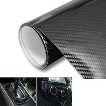 Feuille de Film vinyle 5D pour voiture   Autocollant à Membrane en Fiber de carbone, emballage à haute brillance, libération de bulles dair libre, sans bulle, 1.5m x 60cm de bricolage