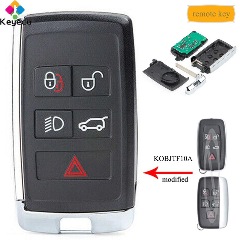 Chave inteligente modificada keyecu do carro de controle remoto-315 mhz/433 mhz-fob para land rover lr4 lr2 2012-2015, range rover evoque/esporte