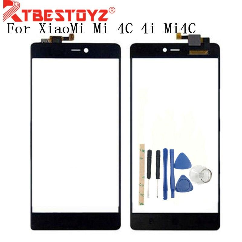 RTBESTOYZ 5,0 para Xiaomi Mi 4C 4i Mi4C Digitalizador de pantalla táctil negro Sensor panel táctil de reemplazo piezas de reparación perfectas