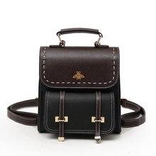 Vintage Pu deri kadın sırt çantası basit yüksek kaliteli okul çantası kızlar için büyük kapasiteli ünlü tasarımcı kadın kolej sırt çantası