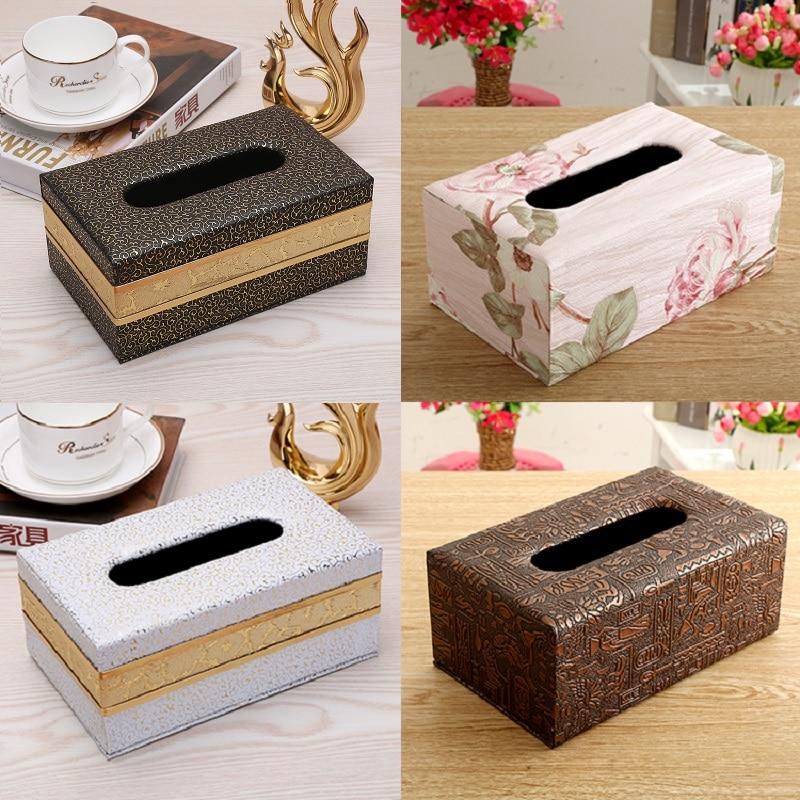 OUSSIRRO caja de pañuelos estilo europeo hogar contenedor de pañuelos de papel toalla caja para pañuelos y servilletas funda para decoración del hogar Oficina