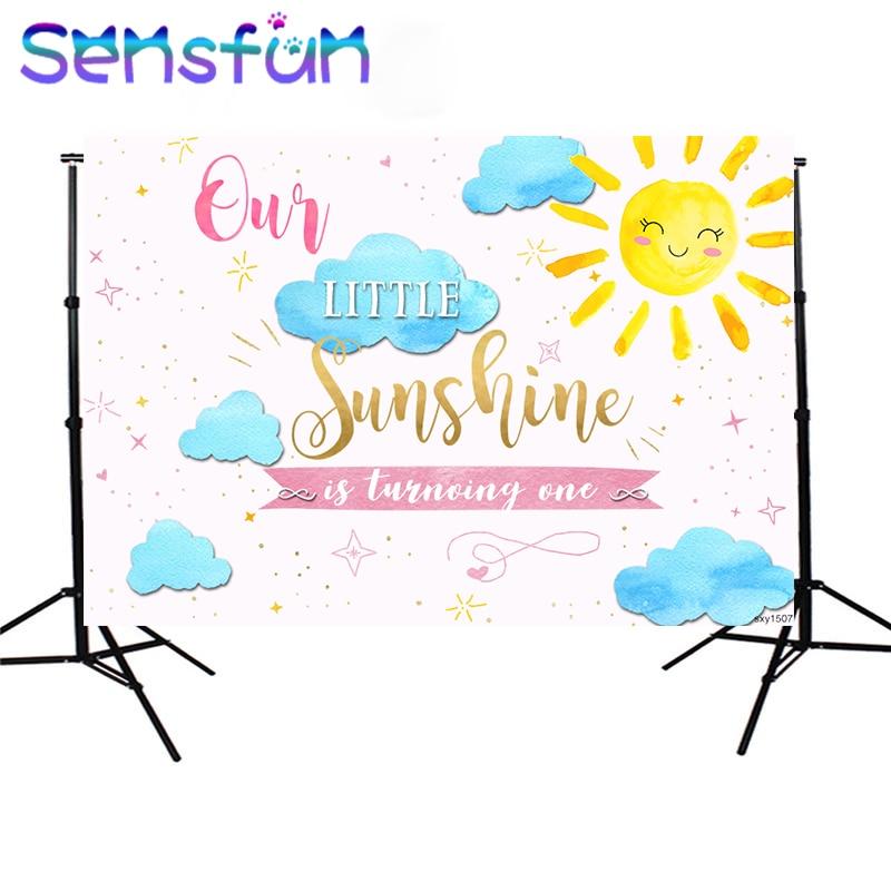 SXY1507 Little Baby Shower fotografía telones de fondo 1er cumpleaños Fiesta Temática sesión de fotos estudio Sunshine photobooth