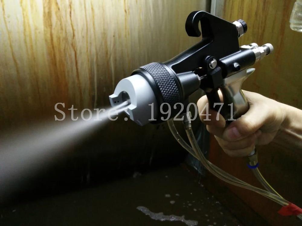 Двухголовый хромированный пистолет-распылитель двойная насадка серебрение полиуретановое пенящееся зеркало хромированная краска нано