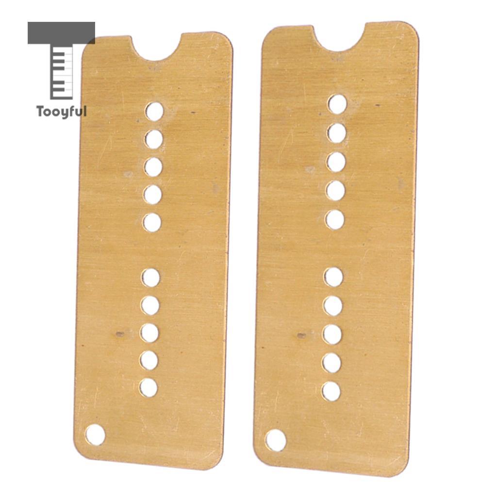 Tooyful 2 шт. латунная электрическая гитара Humbucker Пикап Базовая пластина 50/60 мм расстояние между отверстиями для Soapbar P90 пикап