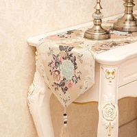 european luxury embroidered table flag cotton and linen table runner tablecloth embroidered table runners table flag dinner mats