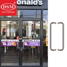 Poignée de porte dentrée à décalage   En acier inoxydable de qualité SUS304 pour lentrée, verre, magasin, grange et portes de magasin, 300 * mm