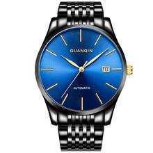 Nieuwe Guanqin Luxe Top Merk Eenvoudig Ontwerp Automatische Mechanische Horloge Mannen Zaken Stainless Steel Horloge Relogio Masculino