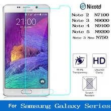 Защитное стекло на экран для смартфонов Samsung Galaxy Note 2, 3, 4, 5, закаленное