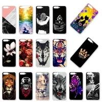 phone case for huawei y6 2018 case silicone bumper for huawei y6 2018 atu l21 atu l22 atu lx3 cover soft tpu back fundas