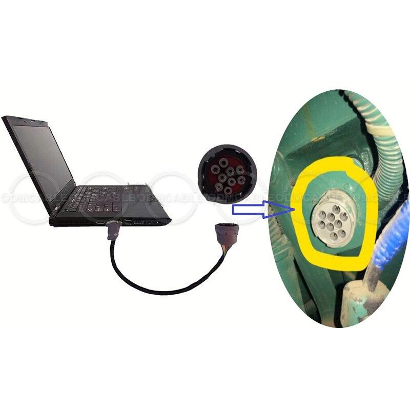 Cable de prueba del generador de energía de motor de 9 pines con el mando de alimentación de software Control genset TRANSFERENCIA DE genset