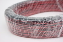 10/20/50/100 m/partia, 2pin czerwony czarny kabel, ocynowana miedź 22AWG, przewód w izolacji PVC, kabel elektroniczny, kabel LED, darmowa wysyłka