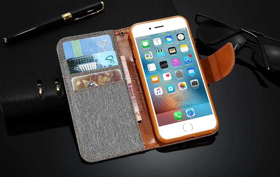 Kisscase stań portfel przerzuć przypadki dla iphone 6 6s 7 5 5S mody hit kolor slot kart skóra pokrywa dla iphone 7 6 s plus z logo 17