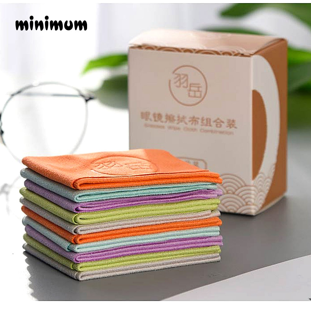 10 pcs/lots Eyeglasses Chamois Glasses Cleaner 150*175mm Microfiber Glasses Cleaning Cloth For Lens