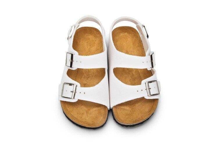 Xiaying ابتسامة ماركة أريزونا الاطفال صندل مسطح الشباب حذاء كاجوال الأطفال مشبك الشاطئ الصيف خف جلدي حقيقي بوي بنات