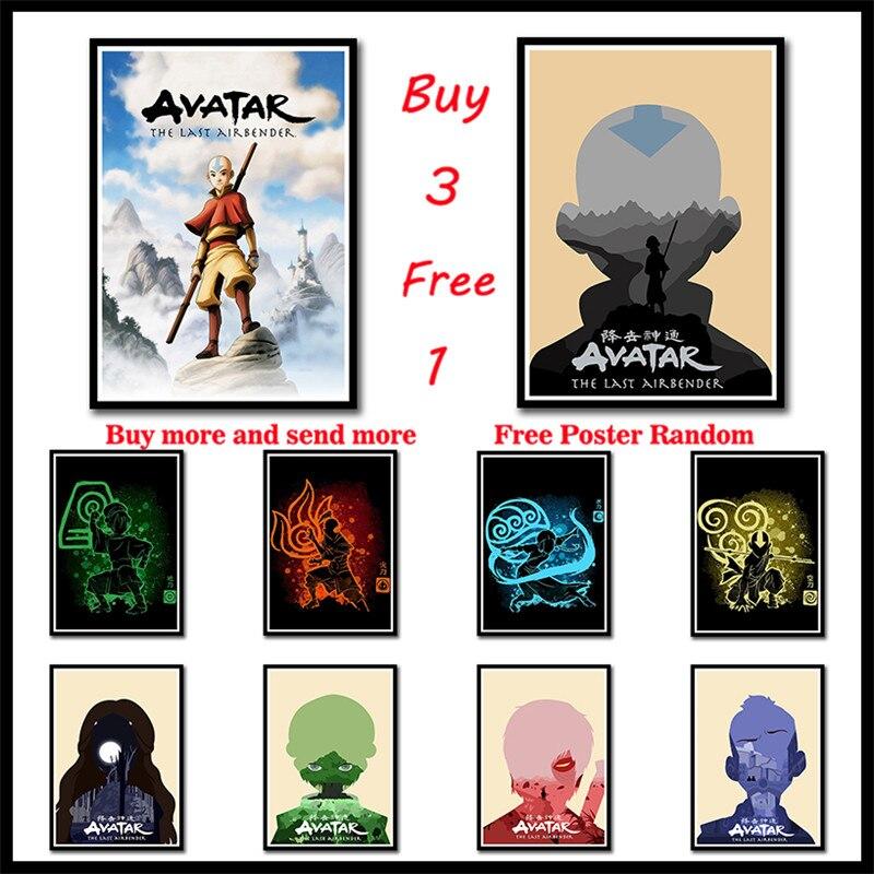 Avatar o último airbender revestido posters de papel arte da parede fotos decoração casa sala estar hd impresso sem moldura