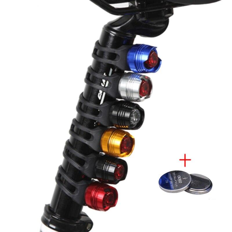 Impermeable bicicleta LED de ciclismo luz delantera trasera casco flash rojo luces linterna de advertencia de seguridad luz de advertencia de seguridad T43