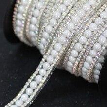 Chaîne de tasse à strass en cristal 90cm   AB + white, avec colle sur le dos, garniture à strass correctrice à chaud, robe de scène de mariage, bricolage