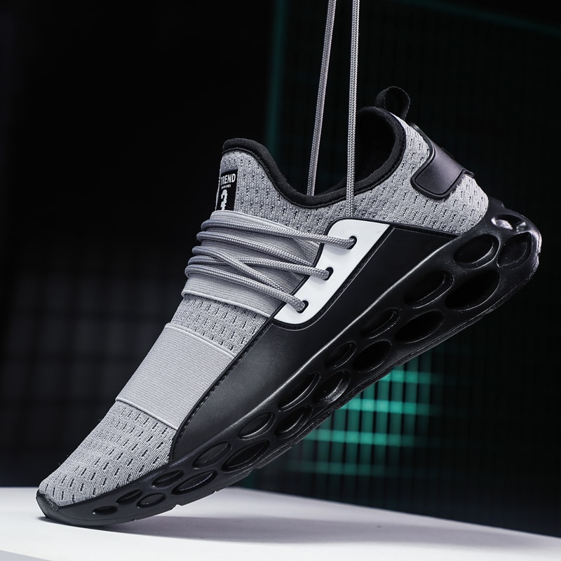 Gran oferta, nueva moda, zapatos informales para hombre para exteriores, zapatillas cómodas para adultos para hombre, zapatillas ligeras transpirables 2019 para caminar para hombre