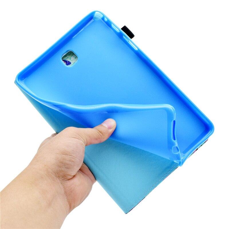 "Купить с кэшбэком Wekays For Samsung Tab A T350 Cute Cartoon Unicorn Leather Case sFor Samsung Galaxy Tab A 8.0 "" T355 T350 T351 Tablet Cover Case"