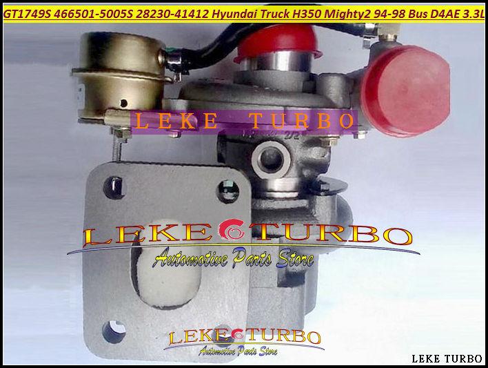 Turbo GT1749S 466501, 466501-5005 S 28230-41412 turbocompresor para camión HYUNDAI H350 muy II 1994-98 chorus Bus H600 D4AE 3.3L