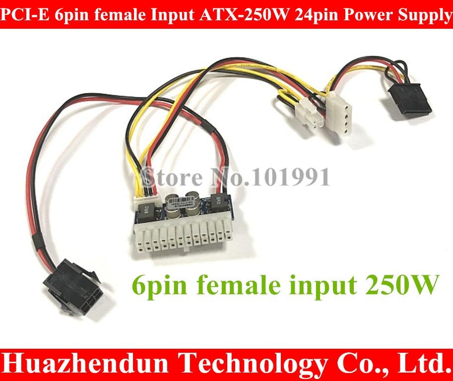 PCI-E 6pin hembra entrada DC-ATX-250W 24pin fuente de alimentación módulo Swithc Pico...