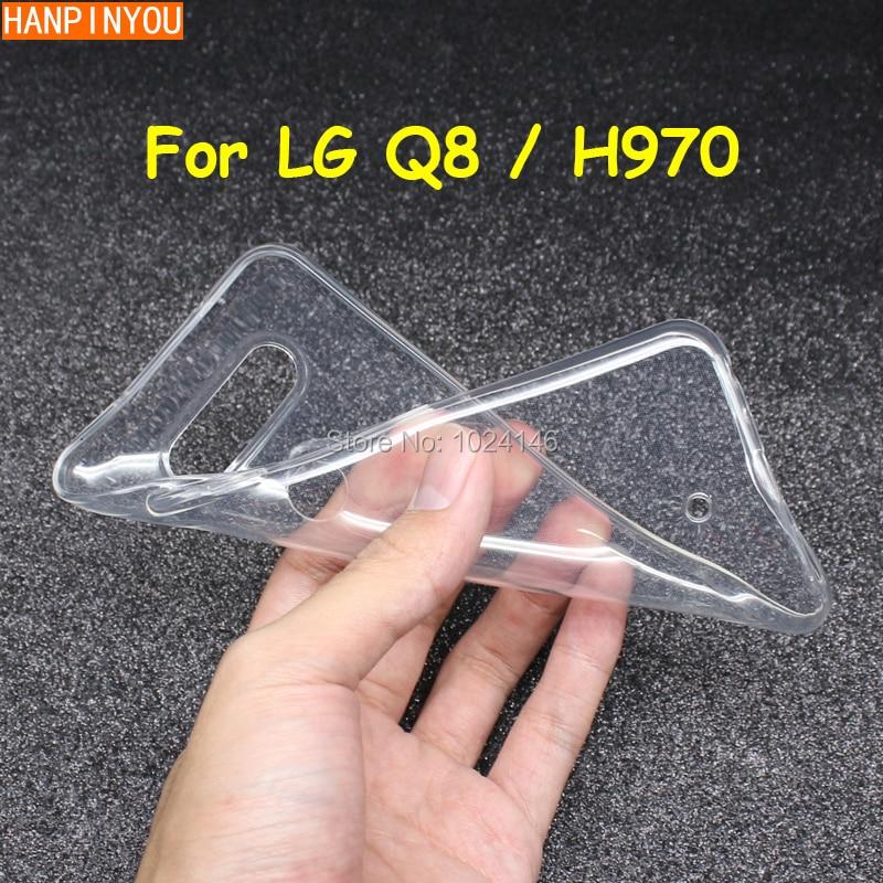 Тонкий прозрачный мягкий ТПУ чехол для задней панели LG Q8, защитный чехол для камеры LG Q8/H970 5,2 дюйма